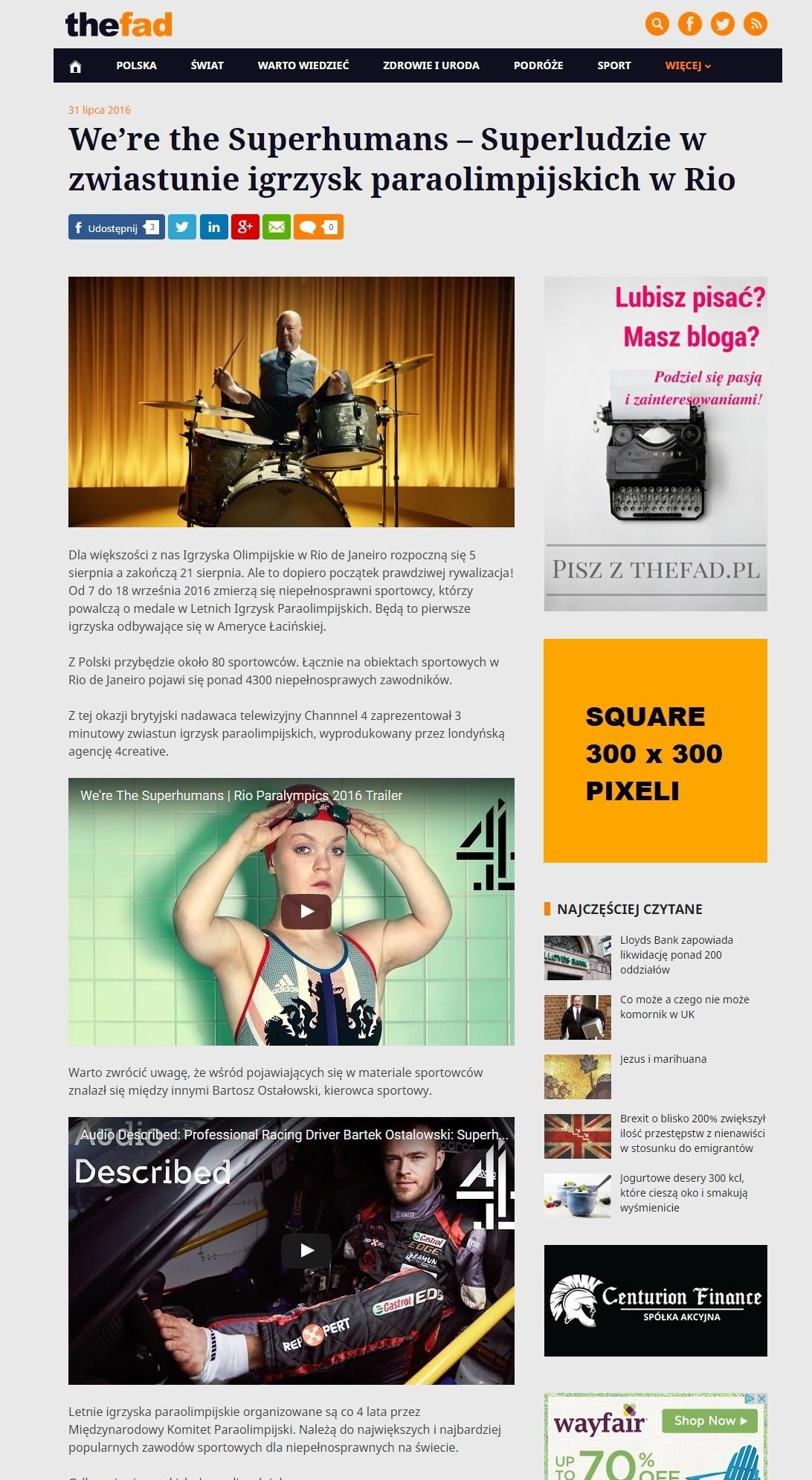 Biuro reklamy TheFad.pl: Wizualizacja reklam, banery 300x300