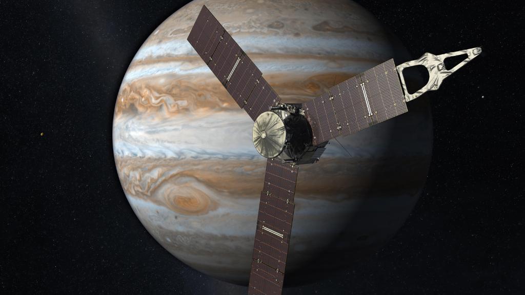 Sonda Juno weszła na orbitę Jowisza. Fot. NASA