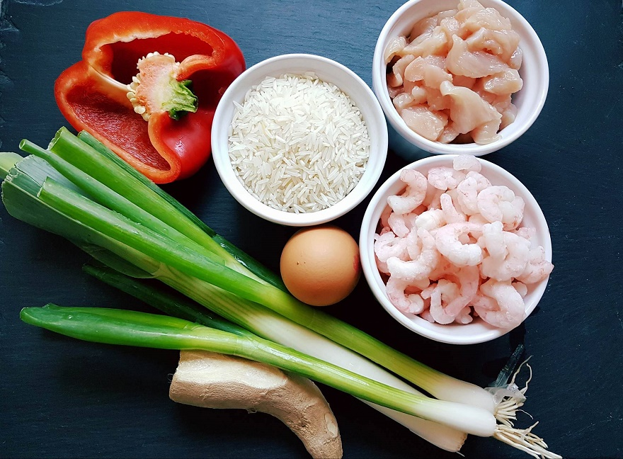 Singapure rice, składniki, fot. TheFad