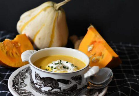 Pomysł na obiad – zupa krem z pieczonej dyni z papryką
