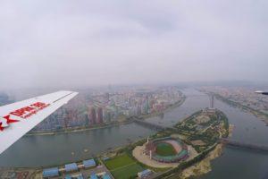 Sfilmował z samolotu stolicę Korei Północne Pjongjang. To pierwsze w historii takie zdjęcia zaprezentowane światu