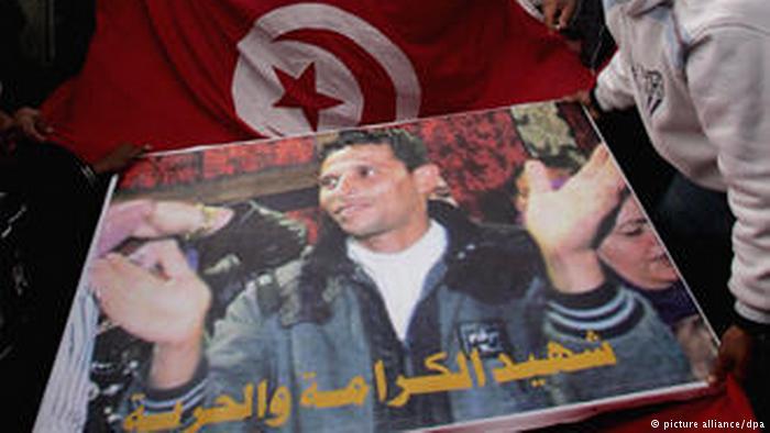 Mohamed Bouazizi nie przypuszczał, że jego protest ruszy falę protestów w wielu krajach arabskich. Fot. Źródło: dw.de
