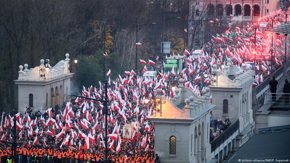 Święto Niepodległości, Warszawa, 11.11.2017. Fot. Źródło: dw.de