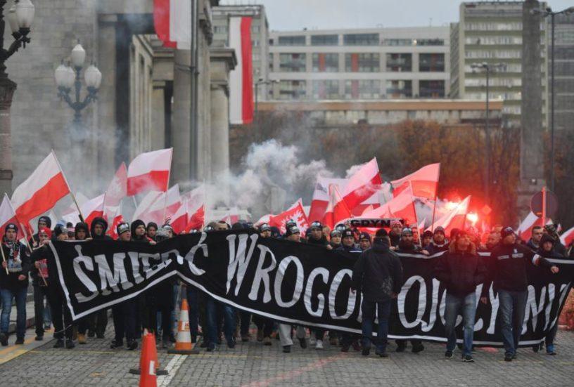 """Marsz narodowców pod hasłem """"My chcemy Boga"""". Fot. Twitter"""
