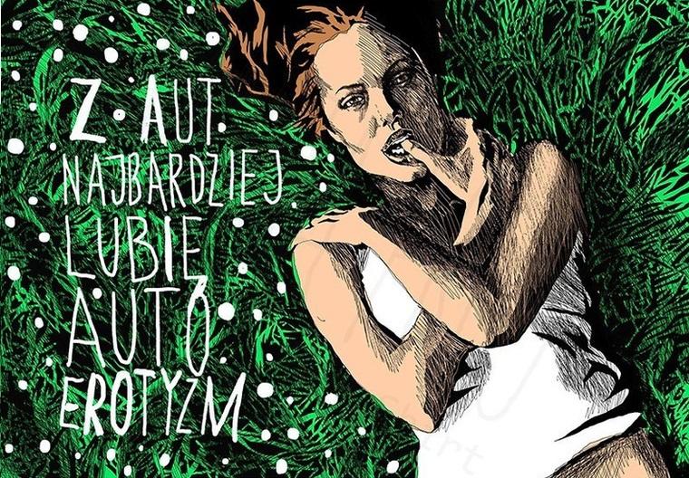Marta Frej: AUTOEROTYZM = MASTURBACJA. Fot. Marta Frei / memshirt.com