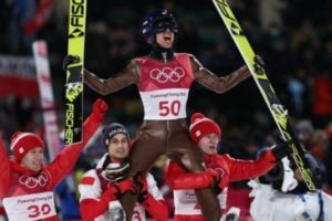 Kamil Stoch mistrzem olimpijskim w skokach narciarskich w Pjongczangu