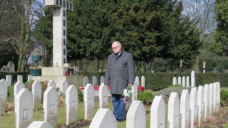 Adam Mazguła. Cmentarz Polskich Lotników w Newark 05 marzec 2018
