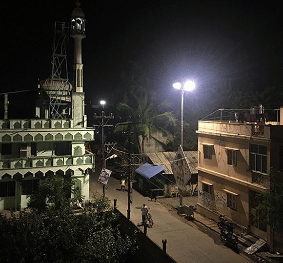 Puducherry – widok z hotelowego okna