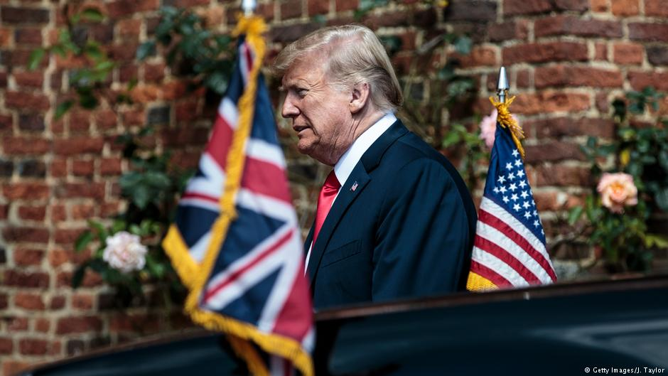 Donald Trump z wizytą w Wielkiej Brytanii
