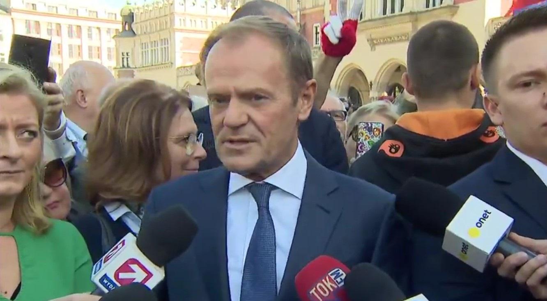 Maria Nurowska: Do Krakowa przyjechał Donald Tusk i został powitany przez Krakowian jak przywódca