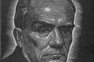 Stefan Żeromski, drzeworyt Władysława Skoczylasa, ok. 1918