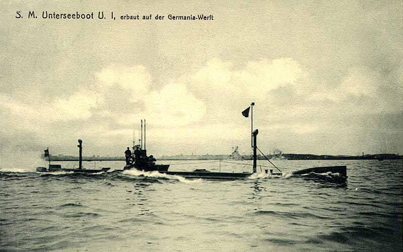 SM U-1 − niemiecki okręt podwodny, wszedł do służby 14 grudnia 1906 roku.