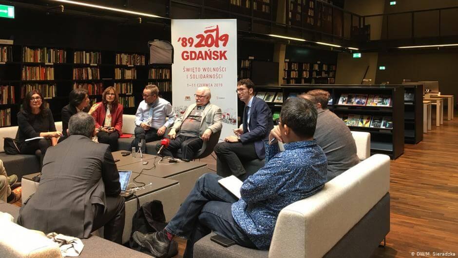 Spotkanie dziennikarzy z Lechem Wałęsą