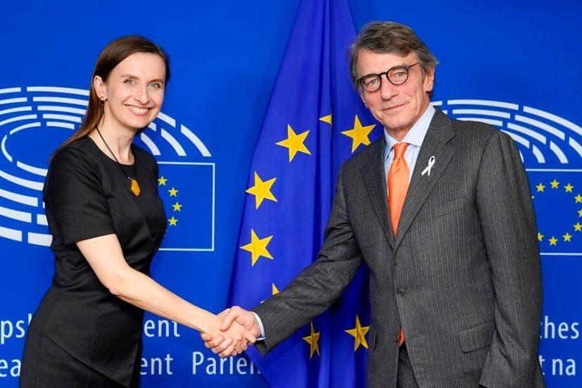 Sylwia Spurek zaprosiła do akcji Biała Wstążka Przewodniczącego Parlamentu Europejskiego