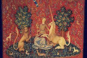 Dama z jednorożcem. Autor nieznany. Utworzony między 1484 a 1500