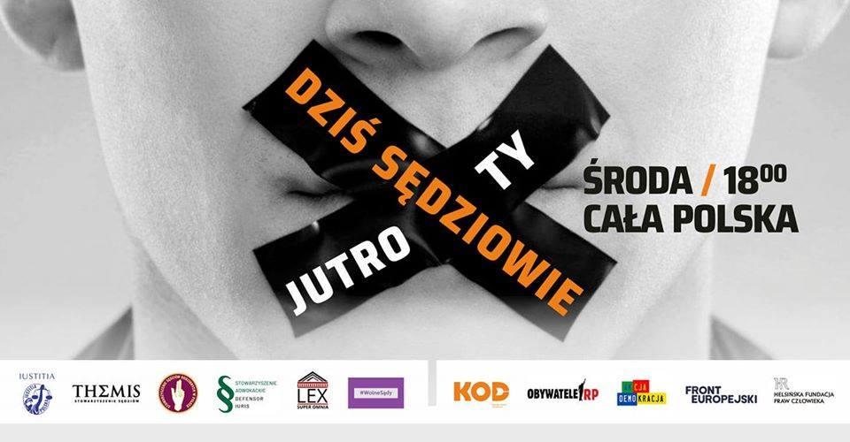 Dziś sędziowie, jutro ty! w środę o 18 00 protestujemy w ponad 100 miastach i nie tylko na terenie Polski.