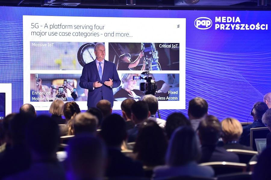 O aspektach tej technologii oraz ambitnych wizjach przyszłości opowiadał Martin Mellor, szef firmy Ericsson w Polsce