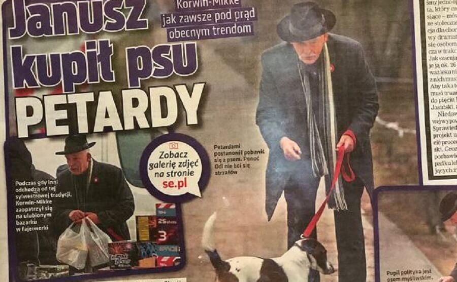 """Adam Mazguła: Korwin-Mikke, prawicowy sadysto """"wsadź sobie petardę w tyłek"""""""
