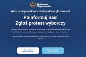 """Platforma Obywatelska przygotowuje protest wyborczy. """"Wszystkie przekręty w wyborach powinny zostać ujawnione"""""""