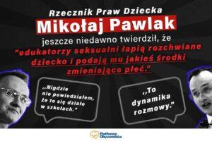 """Adam Mazguła: Mikołaj Paweł Pawlak – niedorzecznik dzieci. """"Natychmiast na bruk!"""""""