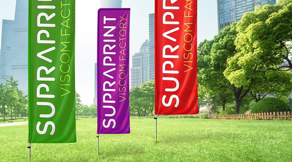 Flaga reklamowa z nadrukiem
