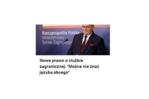 """Wadim Tyszkiewicz: """"Nie czytaty, nie pisaty -wzór polskiego dyplomaty"""""""