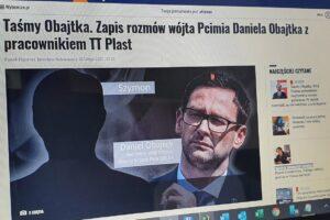 """""""Gazeta Wyborcza"""" publikuje """"taśmy Obajtka"""". Wicerzecznik PiS komentuje"""