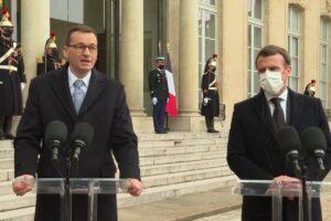 Mateusz Morawiecki spotkał się z Emmanuelem Macronem